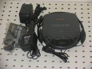 Memorex MD3015 Bass Boost Portable CD Player AC Adapter Car Kit
