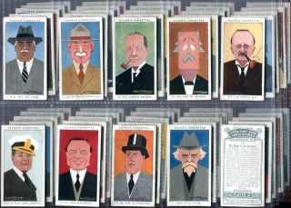 Tobacco Card Set John Player Sons Straight Line Caricatures