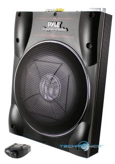 Pyle 10 Chopper Series Powered Low Profile Slim Subwoofer System w