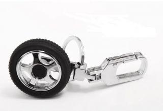 Rotation Tire Car Auto LOGO Wheels Keyrings /KeyFob Alloy HOT Gift
