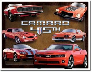 Camaro 45th Anniversary Vintage Car Garage Metal Tin Sign Home Decor