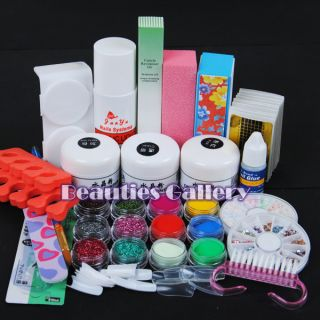 Acrylic Powder Liquid Kits Nail Art Tips Kit Dust Polish Set Kits UV