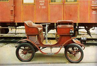 Antique 1902 Automobile Berna Ideal Car Automotive Engineering Train