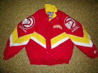 Vintage Beautiful Starter NBA Atlanta Hawks No Hood Jacket 43 Chest