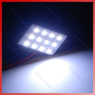 12 LED SMD 1206 Interior Room Dome Door Auto Car Light Lamp Bulb White