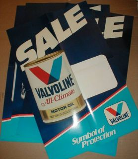 Valvoline Auto Transmission Fluid + Racing Motor oil Can dealer poster