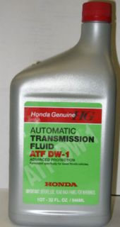Genuine Honda Acura Auto Transmission Fluid ATF DW1 New
