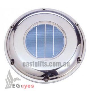 Solar Powered with Battery Attic Fan Intake Exhaust Fan Vent Boat Deck