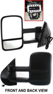 Towing Mirror New Heated Power Primered Driver Side Truck in Glass