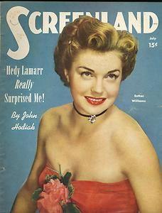 Magazine Esther Williams June Haver Cecile Aubry Jeanne Crain