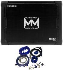 Autotek M2500.1 2500 Watt Peak 1250 Watt RMS Mono Car Amplifier+4