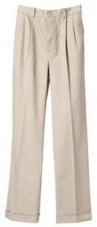 Ashworth Golf Pleated EZ Tech Solid Pants Khaki 34 32 New