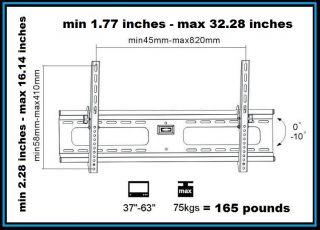 Adjustable Tilt/Tilting Wall Mount Bracket For/Fits 37  63 Lcd,Led