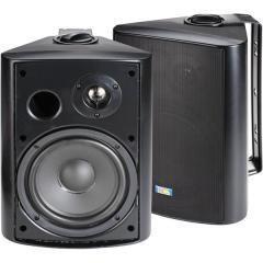 Black 6 5 120 Watt 2 Way Outdoor Patio Speakers