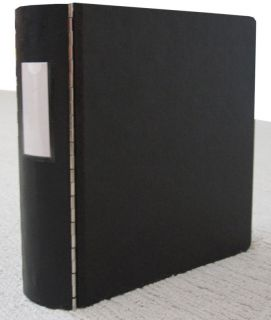 Black Heavy Duty Ring Binder with Metal Hinges 344 44L