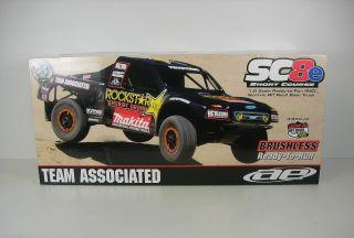 Team Associated 1 8 SC8E Brushless RTR Rockstar 80932