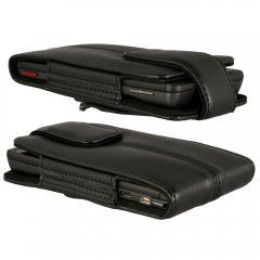 Axiom x Large Black Leather Cover Case for Samsung Galaxy s II