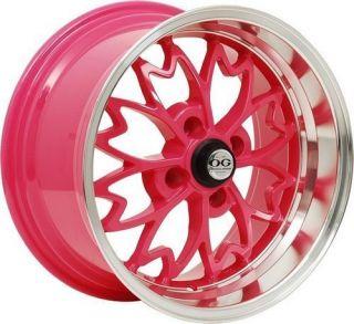 Axis OG Sakura 15x8 4x100 25 Offset Pink Honda Acura Wheels Rims