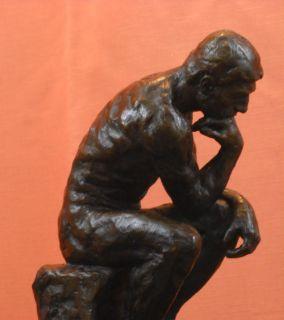 Signed Thinker Bronze Statue Sculpture Auguste Rodin