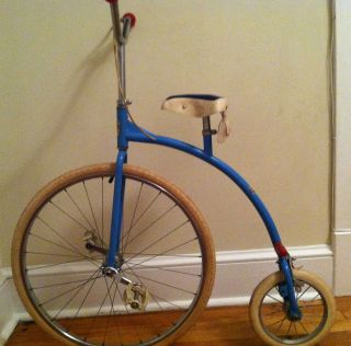 40 YEAR OLD AURELIA KIDS RIDEABLE PENNY FARTHING HIGH WHEEL BICYCLE X