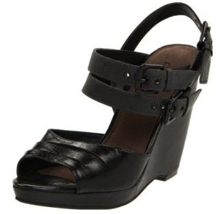 Auri Cecelia $175 Black Leather Slingback Heels Sandals Shoes New 39 9