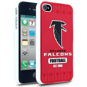 iPhone 4 4S Atlanta Falcons Faceplate Protective Hard Case Cover NFL