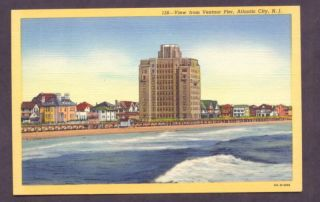 Beach Scene Atlantic City New Jersey Postcard