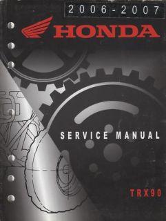 2006 07 Honda ATV 4 Wheeler TRX90 Service Manual New