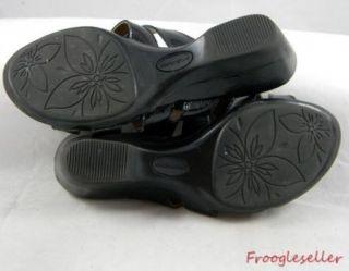 Solos Womens Auden Slide Sandals Shoes 7 5 w Black Patent Leather