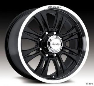 20x9 8x170 Black Carroll Shelby CS48 Wheels Rims 99 11 Ford F250 F350