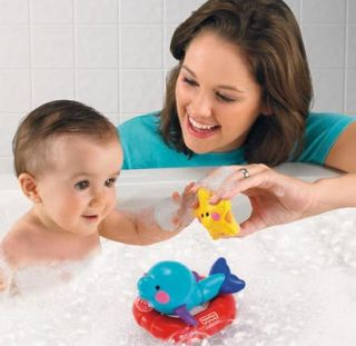 New Fisher Price Tubtime Friends Dolphin Baby Bath Toys
