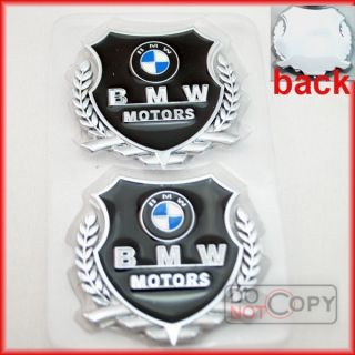 2pcs Metal Side Emblems Logo Auto Car Decor Stickers Decals For BMW