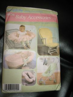 Simplicity 4636 Baby accessories basket stroller car seat glider chair