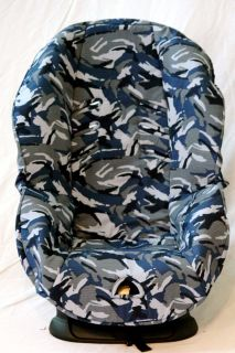 Baby Car Seat Cover Fits Britax Roundabout Blue Black Camo Soft Extra