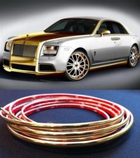 Gold Trim Molding Strip Grill Interior Exterior Car Styling Decoration