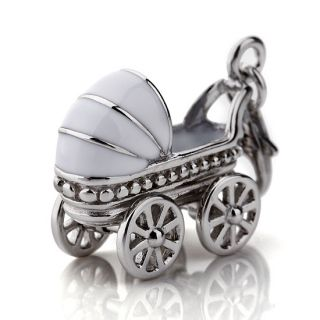 925 Sterling Silver Charm Pendent Lovely Baby Carriage