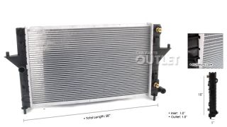 1994 2002 Saturn S Series 1.9L Aftermarket Radiator Assembly
