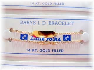 Baby / Child ~ Boy or Girl / Identification ID Bracelet ~ 14K Gold