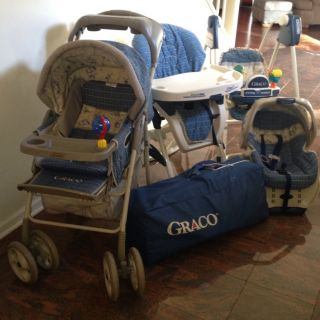 Graco, Lo Of 5 Maching Baby High Chair, Car Sea, Playpen, Swing And