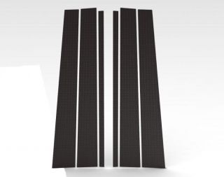 98 08 Carbon Fiber Pillar Post Car Door Window Parts Trim Kit