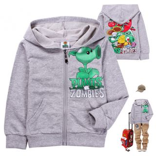 2012 New Baby Boys Girls Plants vs Zombies Hoodies Sweatshirts 2 8