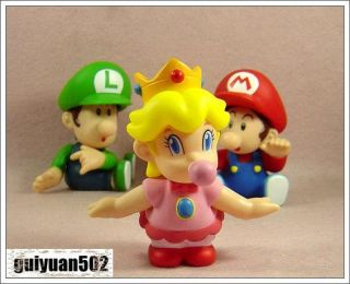 Super Mario Bros Auction Figure Baby Peach Toy TGZ