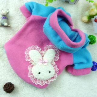 Cozy Cute Pet Dog Warm Clothes Puppy Rabbit Hoodie Costume Apparel