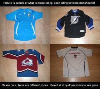 Youth Jerseys NHL Hockey World Soccer USA Spain England Mexico Inter