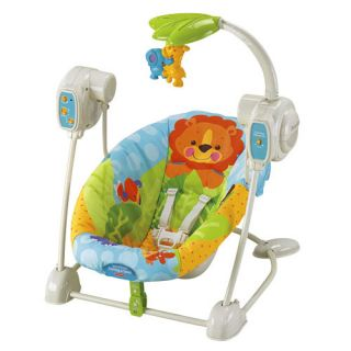 New Fisher Price Baby Musical Spacesaver Swing Seat