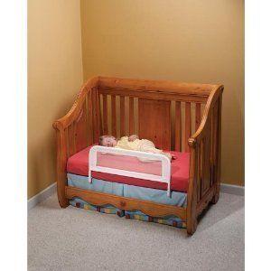 Crib Bed Rail Child Toddler Safety Rail Easy Installation Steel & Mesh