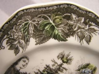 Friendly Village Christmas Small Square Salad Plate Johnson Brothers