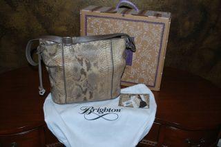 Brighton Seven Snake Handbag Style H33112 Color Sahara