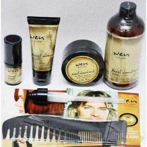 Wen by Chaz Dean Healthy Hair Care System Sweet Almond Mint Kit Set 5