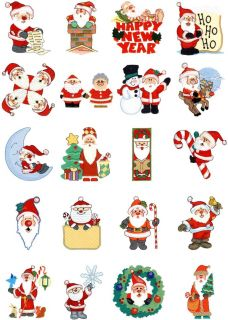 Brother Babylock Embroidery Machine Card Santa 2